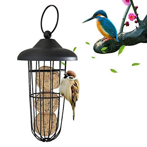 Kitabetty Mangiatoia per Uccelli Selvatici Dattaccatura Distributore di Cibo per Uccelli Appeso Strumento Automatico di Alimentazione degli Uccelli