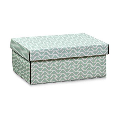 Zeller 17503 Aufbewahrungsbox, Pappe, mint, 32 x 23 x 13 cm