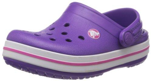 crocs-crocband-kids-zuecos-con-correa-infantil-rosa-neon-purple-neon-magenta-24-26-eu