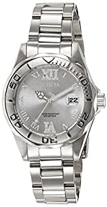 Invicta Pro Diver Women's Quartz Watch with Silver Dial  Analogue display on Silver Stainless Steel Bracelet 12851