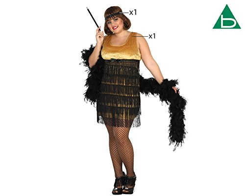 Imagen de atosa 31481–charleston, para mujer disfraz, tamaño xxl, 44/46 alternativa