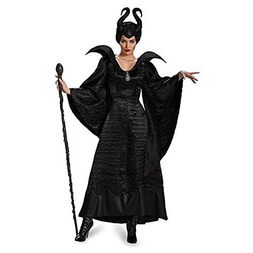 Kinder Maleficent'kostüm Disney - Homelix Frauen Maleficent Schwarz Taufkleid Halloween-Kostüm (XL)