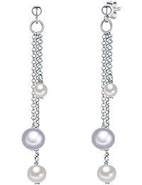 Valero Pearls - Pendants d'oreilles - Perles de culture d'eau douce - Argent sterling 925 - Bijoux de perles, boucles d'oreilles, bijoux en argent - 60201341
