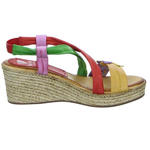 Marila 183-RA-25 Damen Sandalette eleganter Boden Mehrfarbig (Mehrfarbig)