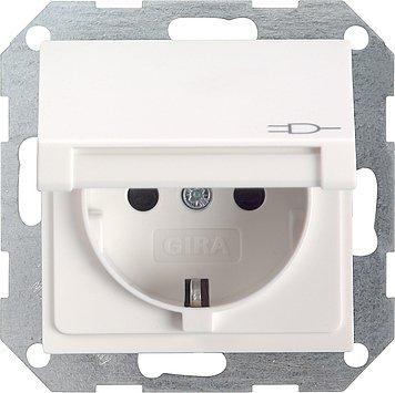 Preisvergleich Produktbild Gira 045427 Steckdose m.Klappdeckel rw System55