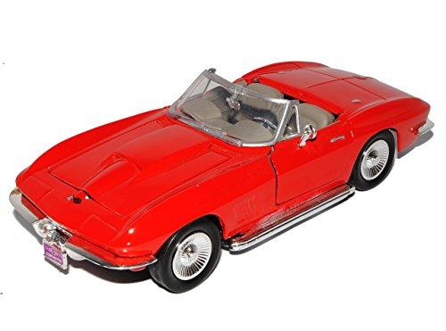 Chevrolet Chevy Corvette C2 Cabrio Rot Offen 1962-1967 Oldtimer 1/24 Motormax Modell Auto