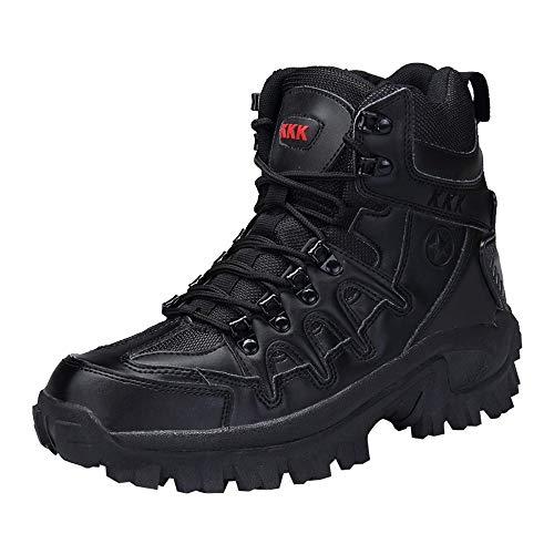 Chaussures de Outdoor pour Hommes, Sport armée Hommes Bottes Tactiques désert randonnée en Plein air Bottes en Cuir Chaussures de Combat BaZheHei
