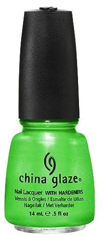China Glaze Nail Lacquer with Hardner - Iridescent Effect - I'm The Lifeguard, 1er Pack (1 x 14 ml) (Opi Nagellack Grün)