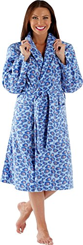 Ladies-Polar-Fleece-Dressing-Gown-Bath-Robe-Wrap-Spa-Gift-Light-Supersoft