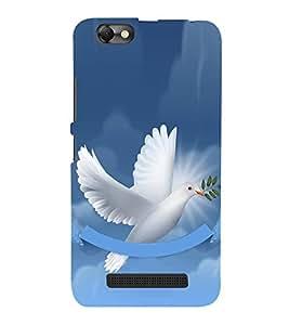 Fiobs Designer Back Case Cover for Lenovo Vibe C :: Lenovo A2020 (Flying Bird Art Theme White)