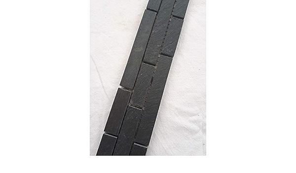 Mosaik Bord/üre Schiefer Anthrazit 30x10 matt Naturstein Fliesen Schwarz B017-6