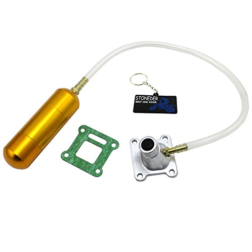 STONEDER Gold Power/Boost Flasche Motor Lufteinlass Pipe Set für 4750cc 2Takt Mini Pocket Bike