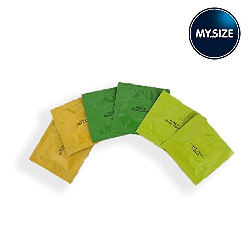 Kondom-Probepackung von My.Size,6Kondome, insgesamt 2Stück von jeder Größe