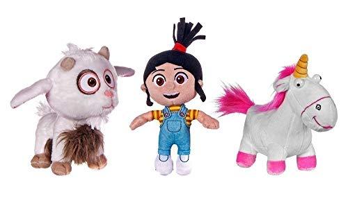 GRU MI Villano Favorito 3 Conjunto Completo 3 Felpa Plush 17cm - Despicable Me 3 - Agnes Cabra Unicornio - 100{5e75f6032fd32121d7e1c4e2f99529acbfa2b26ea8f2bf4d06de0bc2d6198d91} Original y Oficial Universal Studios