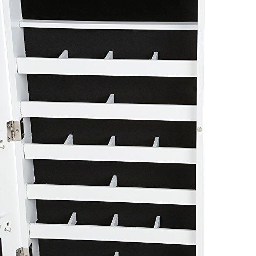 iKayaa Hängend Spiegelschrank Schmuckschrank Türmontage/Wandmontage 119 x 35 x 9 cm - 7