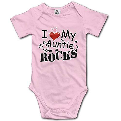 y Auntie She is Rock Short Sleeve Baby Bodysuit ()