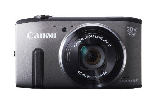 Canon PowerShot SX 270 HS Digitalkamera (12 MP, 20-Fach Opt. Zoom, 7,6cm (3 Zoll) LCD-Display, bildstabilisiert) grau -