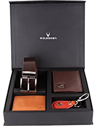 WildHorn GFTSETBOX 007 Brown Men's Wallet