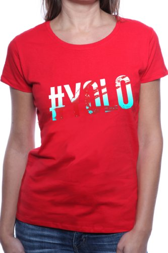 Mister Merchandise Ladies T-Shirt YOLO You Only Live Once Frauen Damen Tee Rot