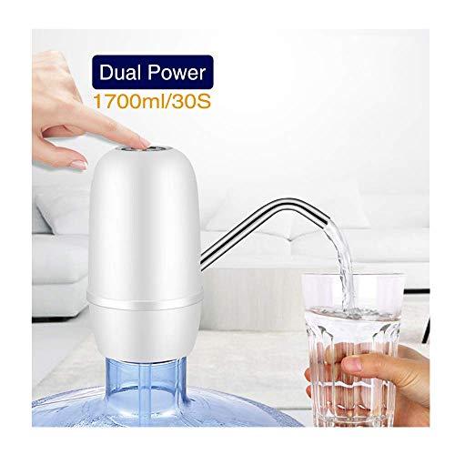 Yncc Trinkwasserpumpe,Wiederaufladbarer USB-Wasserspender,Tragbar, Wiederaufladbar, Automatischer Ersatz Für Manuelle Pumpe Elektrischer Pumpenkübel Wasserfilter Automatischer Wasserspender (BK) -