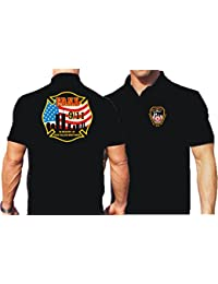 """'Polo Black, """"In Memory Of Our Fallen Brothers 9/11vierfarbig negro negro Talla:xx-large"""