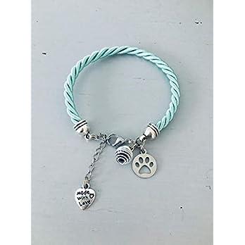 Türkis-Armband mit Hundepfote, Schmuck, Armbänder, Frauenarmband, Türkisarmband, Hundearmband, Hundeschmuck, Schmuckgeschenke