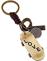 Young & Forever Mothers Day Gifts Brown Leather Alloy Skateboard Hand Bag Charm For Mens/Women/Boys/Girls HBC50153