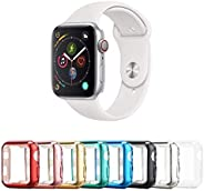Tranesca 8 Pack 40mm Apple Watch case with Built-in HD Clear Ultra-Thin TPU Screen Protector Cover Compatible