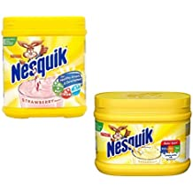 Nesquik Banana and Strawberry Milkshake Bundle | Enjoy This Delicious Combo | Banana Flavour 1 x