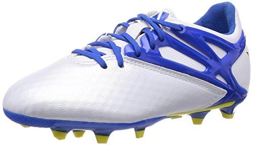 adidas Messi 10.1 Fg/Ag, Baskets Basses Garçon Blanc / Bleu / Noir