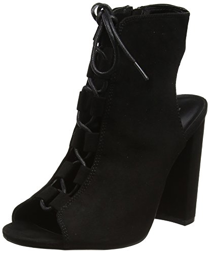 New Look Lace-Up High Vamp, Bottines Femme