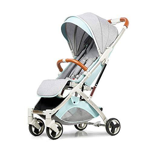 GRHLYR Puede sentarse y acostarse Cochecito de bebé de verano Plegable Cochecito de paraguas ultraligero Cochecito de niño Amortiguadores portátiles Silla de paseo Buggy
