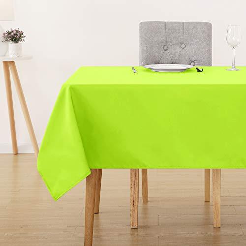 Wasserabweisend Tischwäsche Lotuseffekt Tischtücher 130x220 cm Grün ()