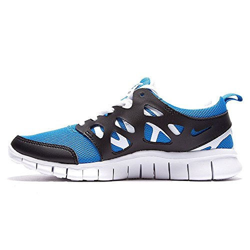 Nike Free Run 2 (GS) Unisex-Kinder Laufschuhe photo blue-white-black (443742-407)