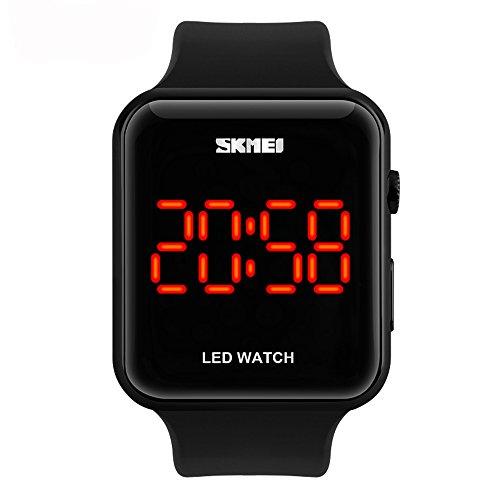 amstt Reloj Deportivo Hombre Mujer De Densidad de deportes de agua reloj LED Digital reloj unisex reloj de pulsera Negro Reloj de pulsera infantil Relojes & # xff08; negro & # xff09;
