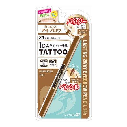 K-Palette 1 Day Tattoo 2 Way Eyeblow Pencil 24h 101 Light Brown