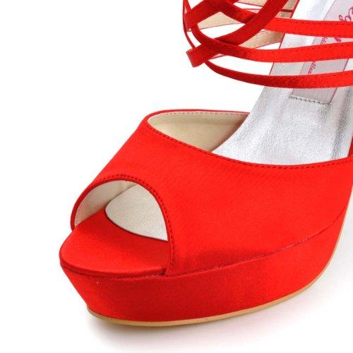 Elegantpark, Scarpe con plateau donna Rosso (rosso)