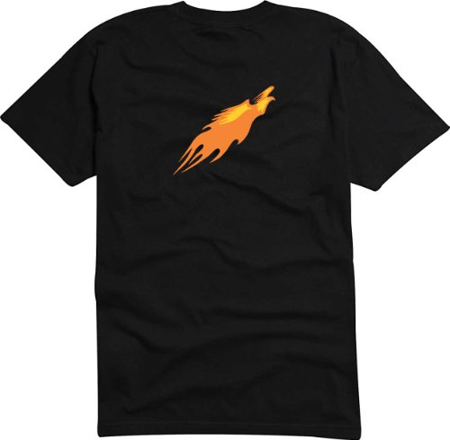 T-Shirt Herren fliegender Adler Schwarz