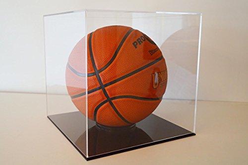 Glas Basketball Vitrine (Basketball Schaukasten Display Cube / Würfel / Vitrine aus Acryl Glas 27x27x27 cm Groß Klar)