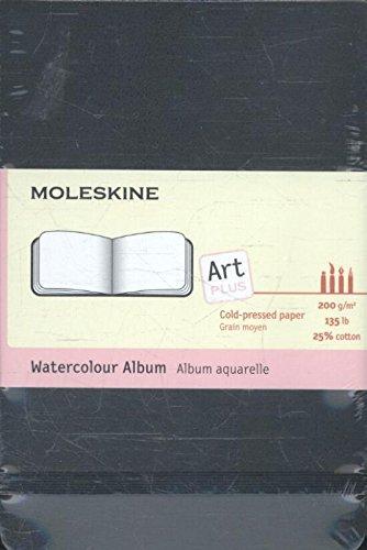 Moleskine Kreativ-Notizbücher, Aquarellbuch Pocket, Hardcover schwarz