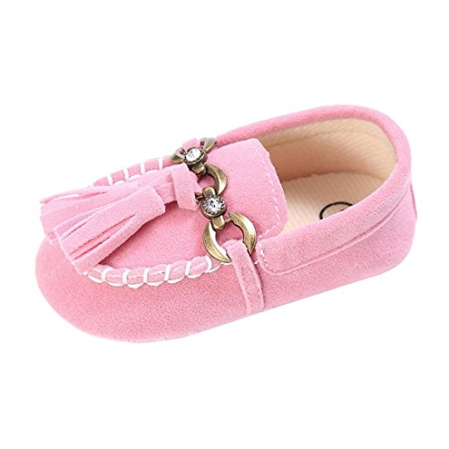 Baby schuhe Jamicy® Baby Kleinkind Niedliche Krippe Schuhe Slip On Comfort Schuhe Loafers Soft Prewalker (12~18 Monate, Schwarz) Rosa