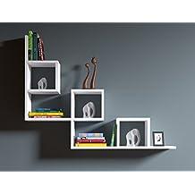 Mensole Quadrate Design.Amazon It Mensole Design 2 Stelle E Piu