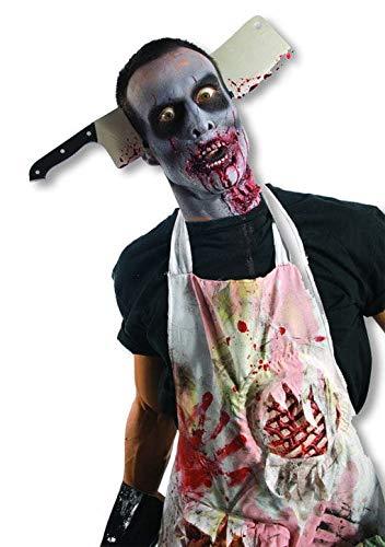 Horror-Shop Zombie Metzgerbeil (Beil Gesicht Halloween Kostüm)
