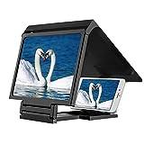 magnifier Loupe d'écran 3D Universelle, Acrylique HD Prévenir Les amplificateurs d'écrans vidéo de rayonnement,Convient Android, iPhone, Smartphone