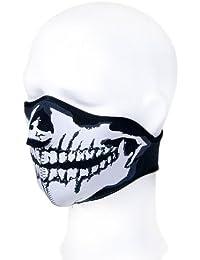 """7X © Produit Original - Masque Protection Demi Cagoule Neoprene """"Ghost Tete de mort - Skull"""" - Taille unique réglable - Airsoft - Paintball - Outdoor - Ski - Snow - Surf - Moto - Biker - Quad"""