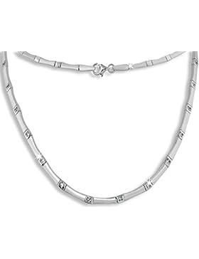 SilberDream Collier Kette mit Zirkonia weiß 925er Sterling Silber 46cm Halskette SDK436W