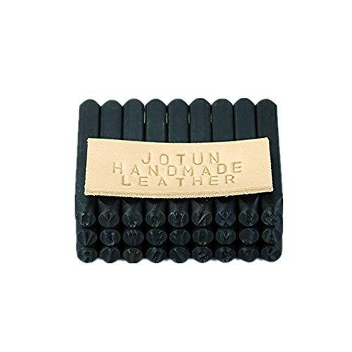 Yosoo Nummer und Brief Briefmarke Set 4 mm Handwerk Stahl Metall Leder Stempel Stempel Stempel (36 Stück Set / A-Z und 0-9) -