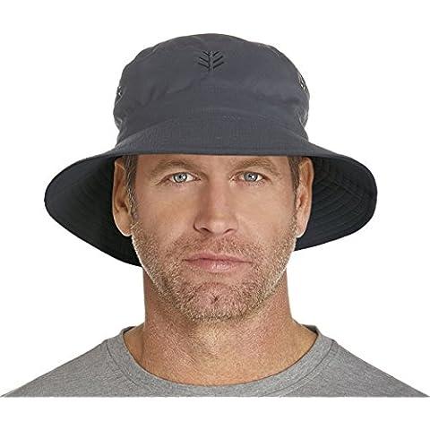 Coolibar da uomo, protezione dai raggi UV (UPF 50 + Cappello reversibile, colore: grigio, taglia: 10/Small