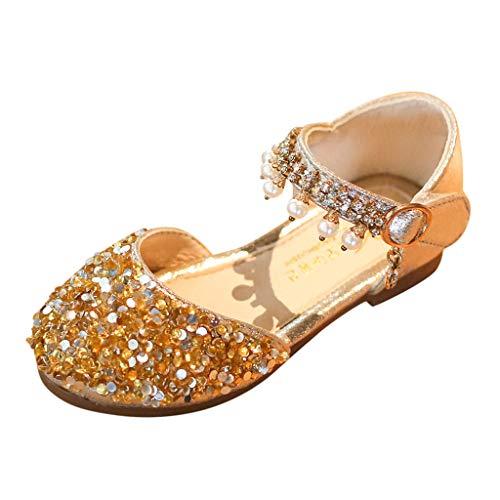 Einzelne Schuhe Kinder Pailletten Gummiband Einzelne Schuhe Kleinkind Niedlich Schuhe Prinzessin Schuhe Tanzschuhe Kinder Baby Kleinkind Mädchen Pailletten Bling Schuhe (29 EU, Gold 4) (Schuhe Pailletten Mädchen)