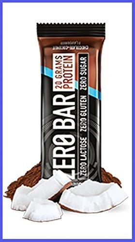 Zero bar 50 g di barretta con 22,5 g di proteine [box da 20 barrette] ([new]cioccolato-cocco)
